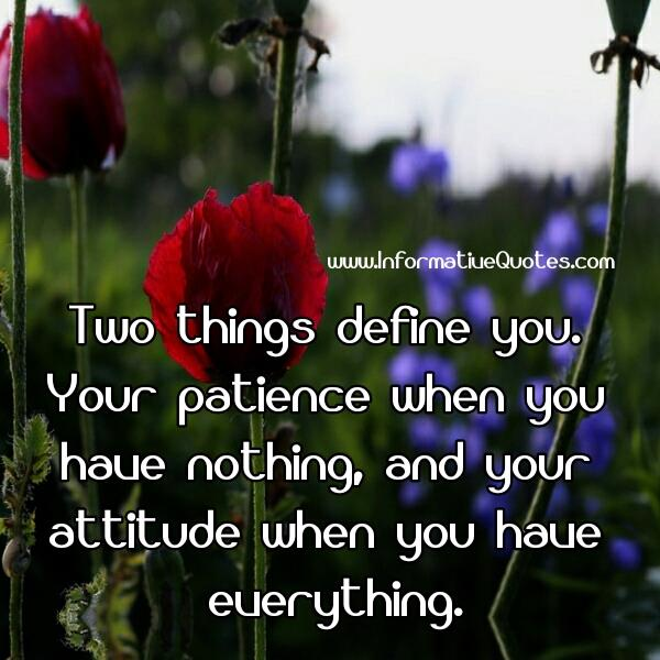 2 Things Define You