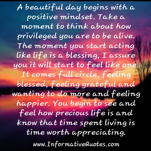 A Beautiful Day Begins With A Beautiful Mindset Quote A beautiful day begins with a