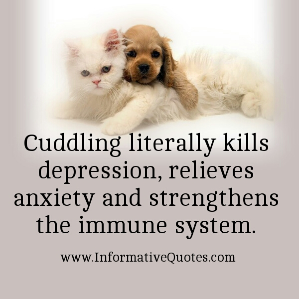 Cuddling literally kills depression