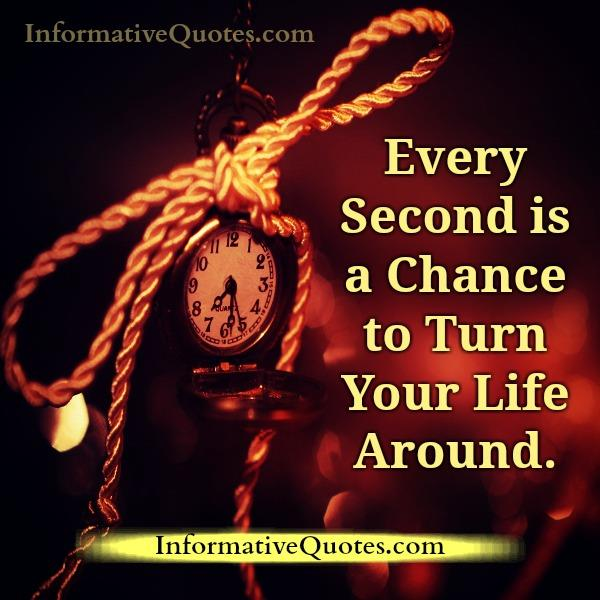 Every second is a chance