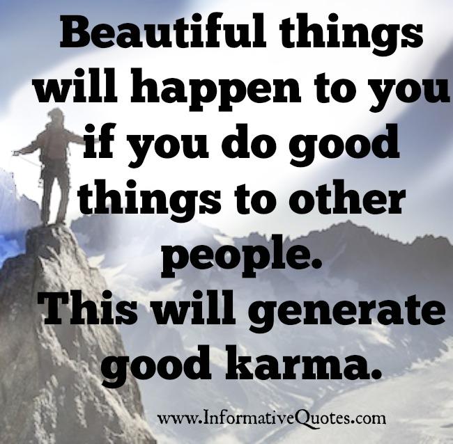 How to generate Good Karma?