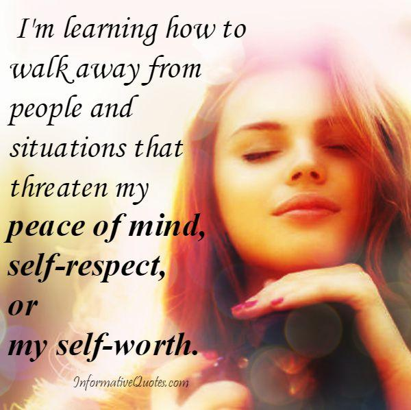 How to walk away from people and situations?
