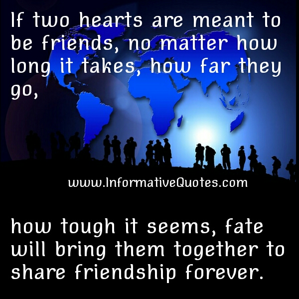 If two Heart are meant to be friends