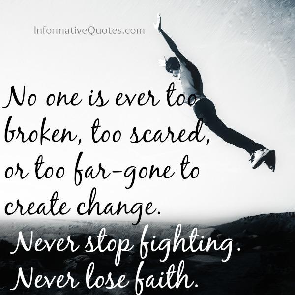 No one is ever too broken