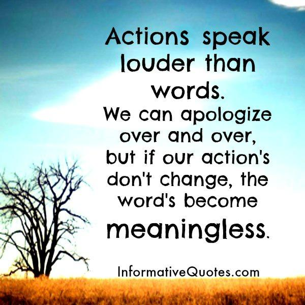 Our actions don't change, the words become meaningless