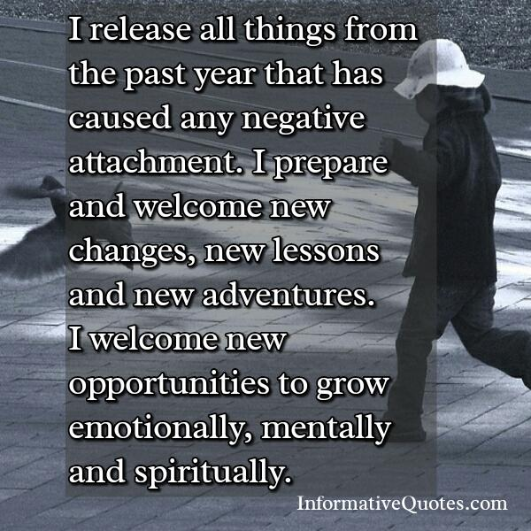 Release all things that has caused negative attachment