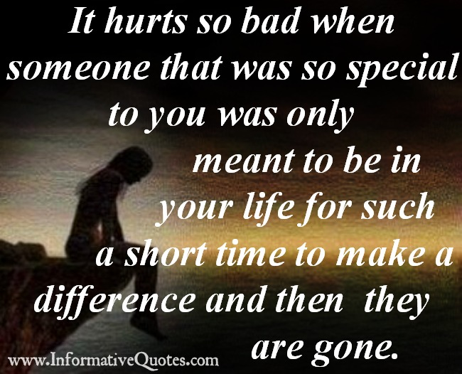 Someone that was so special to you