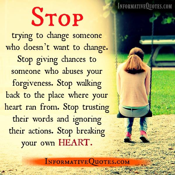 Stop breaking your own Heart