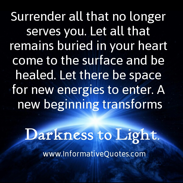 Surrender all that no longer serves you