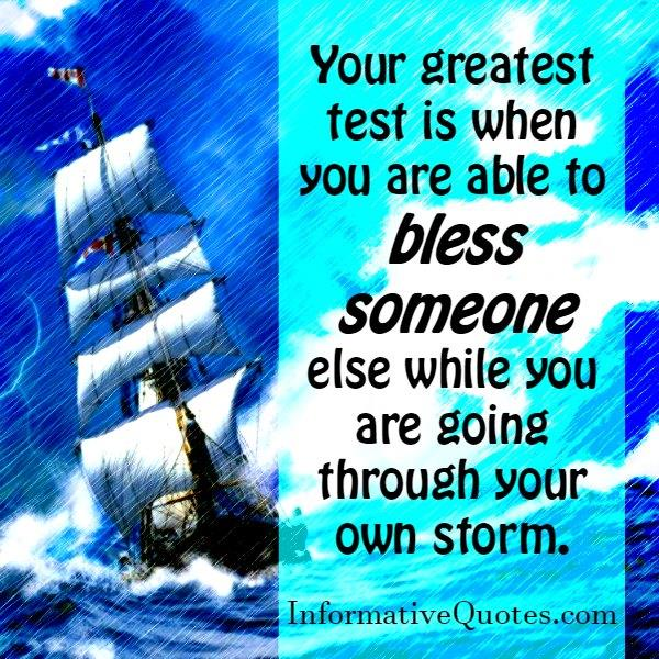 The Greatest test in life