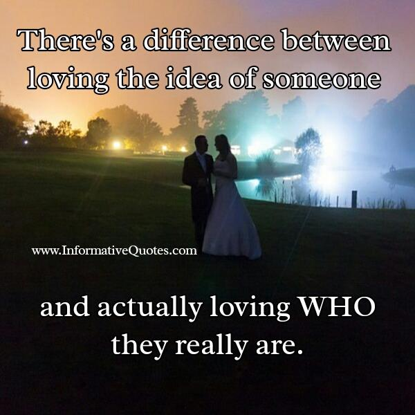 There's a difference between loving someone