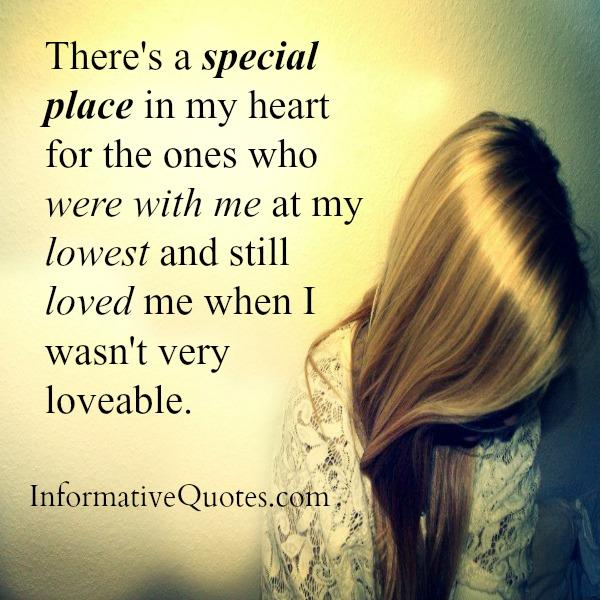 There's a special place in my heart for the ones who were with me