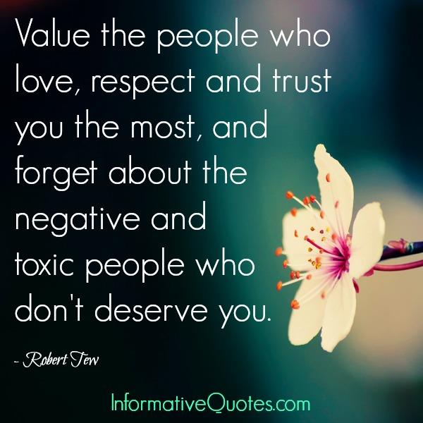 Toxic & negative people don't deserve you