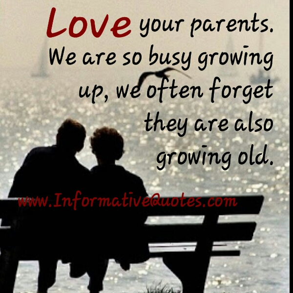 We often forget, our parents are growing old