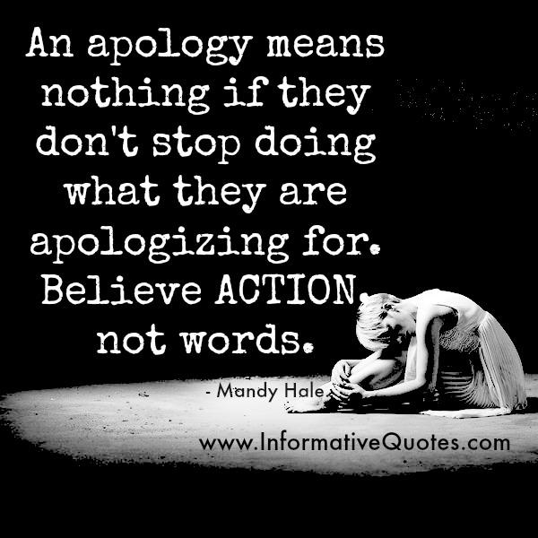 When apology means nothing