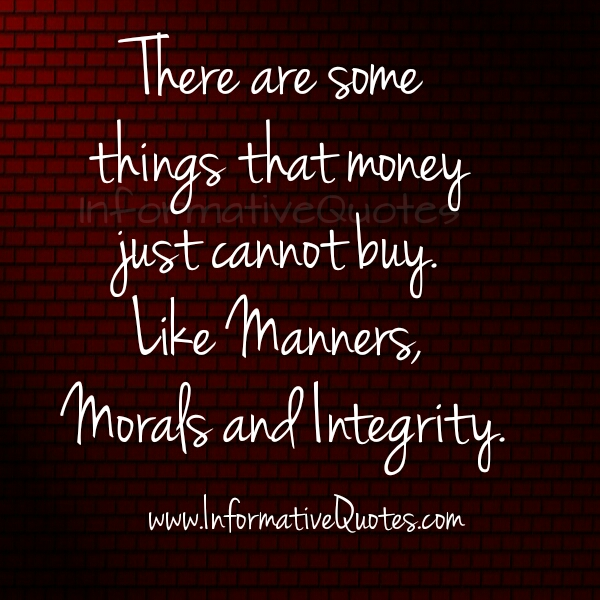 Which things that money can't buy